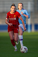 1st December 2019; Academy Stadium, Manchester, Lancashire, England; The FA's Women's Super League, Manchester City Women versus Liverpool Women; Melissa Lawley of Liverpool FC Women chases the through ball - Editorial Use