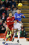 06.02.2019: Aberdeen v Rangers: Max Lowe and James Tavernier