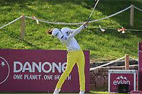 Yu Liu (CHN) tees off the 6th tee during Thursday's Round 1 of The Evian Championship 2018, held at the Evian Resort Golf Club, Evian-les-Bains, France. 13th September 2018.<br /> Picture: Eoin Clarke | Golffile<br /> <br /> <br /> All photos usage must carry mandatory copyright credit (© Golffile | Eoin Clarke)