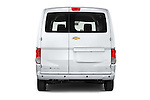 Straight rear view of2017 Chevrolet City Express LT 5 Door Cargo Van Rear View  stock images