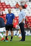 Julian Nagelsmann manager of 1899 Hoffenheim during the Champions League playoff round at the Anfield Stadium, Liverpool. Picture date 23rd August 2017. Picture credit should read: Lynne Cameron/Sportimage