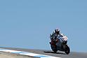 July 25, 2010 - Laguna Seca, USA - Fiat-Yamaha team's Spanish rider, Jorge Lorenzo, powers his bike during the U.S. Grand Prix held on July 25, 2010. (Photo Andrew Northcott/Nippon News)