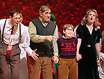 John Bolton, Dan Lauria, Johnny Rabe, Erin Dilly during the Broadway Opening Night Performance Curtain Call for 'A Christmas Story - The Musical'  at the Lunt Fontanne Theatre in New York City on 11/19/2012.