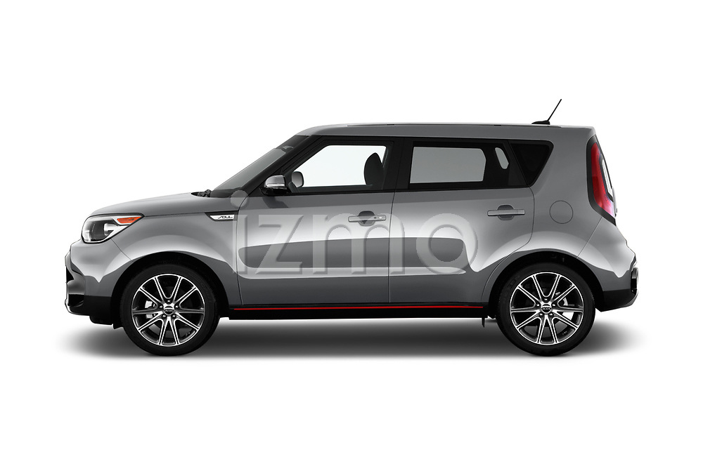 Car Driver side profile view of a 2017 KIA Soul Exclaim 5 Door Hatchback Side View