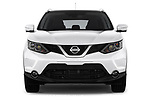 Car photography straight front view of a 2014 Nissan Qashqai Tekna 5 Door SUV