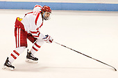 Brandon Hickey (BU - 4) - The Boston University Terriers defeated the visiting Merrimack College Warriors 4-0 (EN) on Friday, January 29, 2016, at Agganis Arena in Boston, Massachusetts.