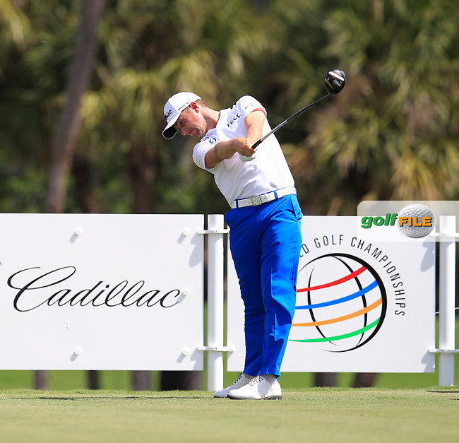 Webb Simpson (USA) during the 1st round at the WGC Cadillac Championship, Blue Monster, Trump National Doral, Doral, Florida, USA<br /> Picture: Fran Caffrey / Golffile