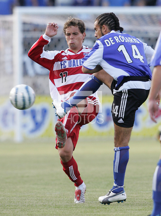 14 May 2005: Simo Valakari of FC Dallas in action against Earthquakes at Spartan Stadium in San Jose, California.   Earthquakes tied FC Dallas, 0-0.   Credit: Michael Pimentel