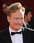 Conan O'Brien at The 61st Primetime Emmy Awards held at The Nokia Theater in Los Angeles, California on September 20,2009                                                                                      Copyright 2009 DVS / RockinExposures