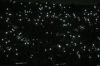 SÃO PAULO,SP, 21.10.2015 - SÃO PAULO-SANTOS - Queda de Energia em partida entre São Paulo e Santos jogo de ida da semi-finais da Copa do Brasil no estádio Cicero Pompeu de Toledo, o Morumbi na região sul de São Paulo, nesta quarta-feira, 21. (Foto: William Volcov/Brazil Photo Press)