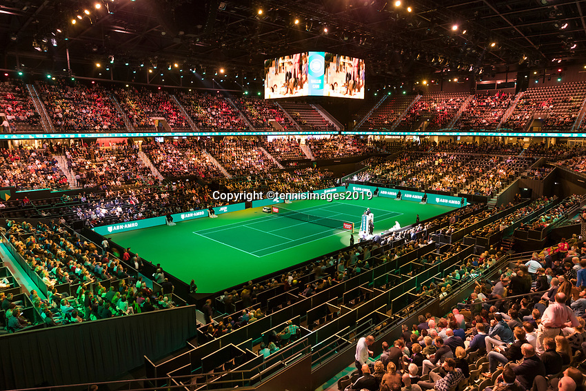 Rotterdam, The Netherlands, 16 Februari 2019, ABNAMRO World Tennis Tournament, Ahoy, Semis, Stadium,<br /> Photo: www.tennisimages.com/Henk Koster