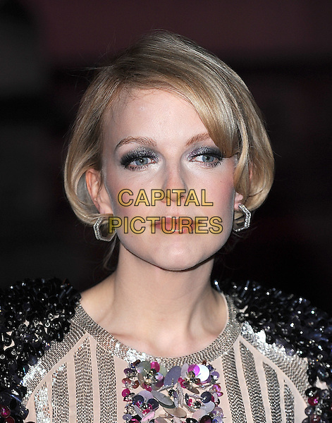 LAUREN LAVERNE .attending The British Fashion Awards, Royal Courts of Justice, London, England, UK, 9th December 2009..arrivals portrait headshot eyeshadow make-up earrings sequined sequin beaded black embellished gold silver multi-colored .CAP/BEL.©Tom Belcher/Capital Pictures.