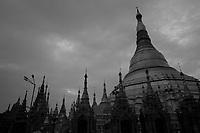 Schewadagon Pagoda<br /> , Yangon, Myanmar in 2017
