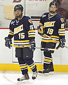 Hank Carisio, Derek Pallardy, both sophomore forwards from Springfield of the NAHL - Boston College defeated Merrimack College 3-0 with Tim Filangieri's first two collegiate goals on November 26, 2005 at Kelley Rink/Conte Forum in Chestnut Hill, MA.