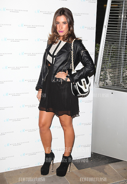 Gabriella Ellis arriving for the Nouveau Lashes Launch, London.  18/09/2012 Picture by: Alexandra Glen / Featureflash