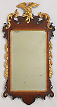 Mirror. England, ca. 1755. Carved mahogany and veneered mahogany, carved, gessoed and gilt pine; mirrored silvered glass. H x W x D: 103 x 53.5 x 9.5 cm (40 9/16 x 21 1/16 x 3 3/4 in.). Gift of Neil Sellin, 1967-87-6-a,b. Photo by Matt Flynn © 2016 Cooper Hewitt, Smithsonian Design Museum