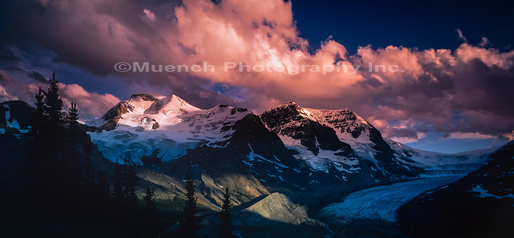 Mt Athabasca and glacier,Jasper National Park,Canada AB