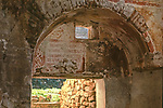 Fresco, half-buried Greek church, interior