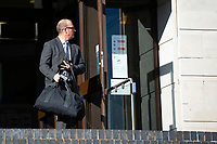 "Pictured: Kevin Thomas leaves Newport Crown Court, Wales, UK. Monday 29 October 2018<br /> Re: Head teacher Kevin Thomas has been sentenced for sexually assaulting a woman in his office at a Cardiff primary school.<br /> 46 year old Thomas, of Cardiff, attacked the woman after becoming ""infatuated"" with her, the Crown Court heard.<br /> Thomas, a married father of two, was cleared of one count of assault but found guilty of another. <br /> He was suspended from his job at Glan-yr-Afon Primary school in, Cardiff, in March 2017 after the allegations.<br /> The court had previously heard how he had emailed the woman repeatedly expressing his feelings for her."