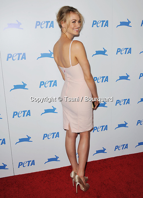 Yvonne Strahovski<br /> Peta 30th Anniversary Gala at the Hollywood Palladium in Los Angeles.
