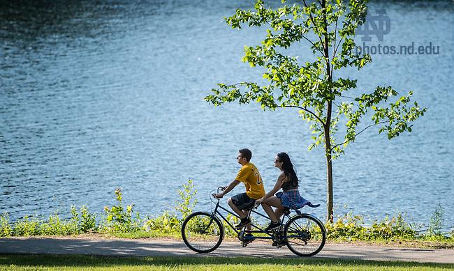 June 5, 2015; Tandem bike around St. Mary's Lake, Reunion 2015. (Photo by Matt Cashore/University of Notre Dame)