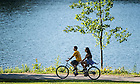 June 5, 2015; Tandem bike around St. Mary's Lake, Reunion 2015. (Photo by Matt Cashore/University of Notre Dame)