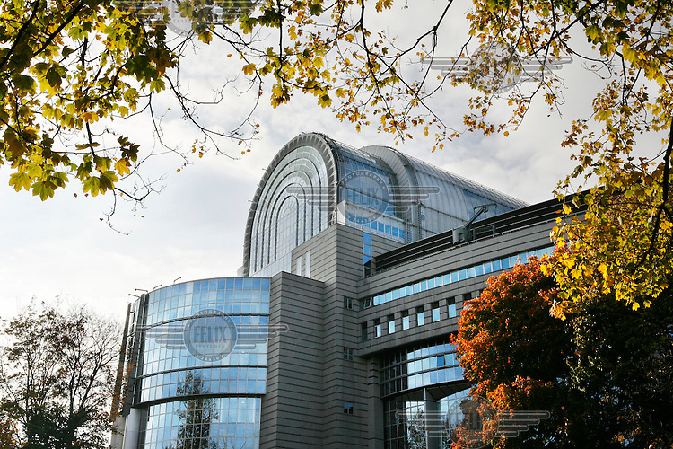 European Parliament buildings in Brussels. The parliament is the elected body of the European Union (EU).
