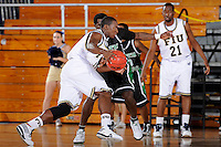 6 February 2010:  FIU's Marvin Roberts (11) drives for the basket in the first half as the North Texas Mean Green defeated the FIU Golden Panthers, 68-66, at the U.S. Century Bank Arena in Miami, Florida.