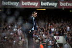 West Ham United 2 Crystal Palace 2, 02/04/2016. Boleyn Ground, Premier League. Home manager Slavan Bilic watching the first-half action at the Boleyn Ground as West Ham United hosted Crystal Palace in a Barclays Premier League match. The Boleyn Ground at Upton Park was the club's home ground from 1904 until the end of the 2015-16 season when they moved into the Olympic Stadium, built for the 2012 London games, at nearby Stratford. The match ended in a 2-2 draw, watched by a near-capacity crowd of 34,857. Photo by Colin McPherson.