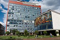 The Mexico City campus (Ciudad Universitario) of the UNAM (Universidad Autonomo de Mexico) Mexico City. June 20, 2008
