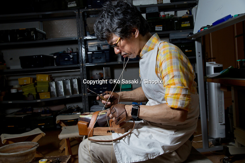 Chiro Yamaguchi at the atelier of Guild of Crafts