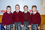 Knockaderry National School from Farranfore attending the annual Noreen Lynch Credit Union Quiz in the Brandon Hotel on Sunday last. L-r, Sean O'Sullivan, Clodagh O'Sullivan, Amber Fleming and Sean Barry.