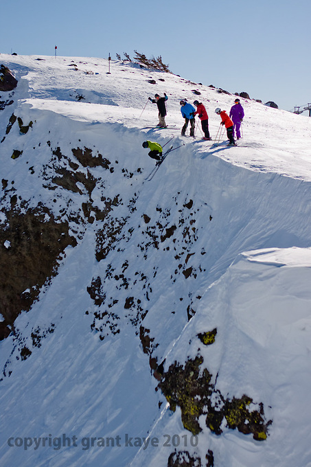 """Images from the Unofficial Squaw game of G.N.A.R. - Robb Gaffney and Shane McConkey's hilarious skiing game in the back of Dr. Robb Gaffney's book """"Squallywood."""""""