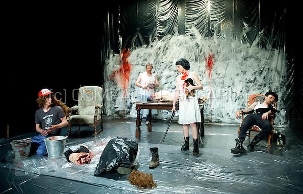 "Theatre company WTThumor playing ""De Luitenant Van Inishmore"" from Martin McDonagh, directed by Geert Defour (Belgium, 25/04/2014)"
