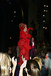 HARVEY FIERSTEIN and<br />DICK LATESSA<br />( Curtain Call )<br />HAIRSPRAY The Broadway Musical<br />Opening Night at the Neil Simon Theatre<br />Party at Roseland<br />New York City<br />August 15,2002