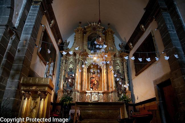 Interior of John Baptist Church, Deia, Majorca, Spain
