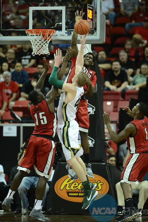 15 MAR 2013: The University of Nevada-Las Vegas takes on Colorado State University during the Mountain West Conference Men's Basketball Tournament held at the Thomas & Mack Center in Las Vegas, NV. Peter Lockley/NCAA Photos