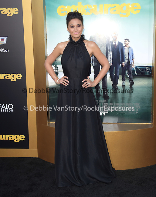 Emmanuelle Chriqui attends The Warner Bros. Pictures' L.A. Premiere of Entourage held at The Regency Village Theatre  in Westwood, California on June 01,2015                                                                               © 2015 Hollywood Press Agency