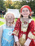 Sisters Ciara and Anna-Lynn Cunningham pictured at the parade of historical figures to support opening ardee castle. Photo:Colin Bell/pressphotos.ie