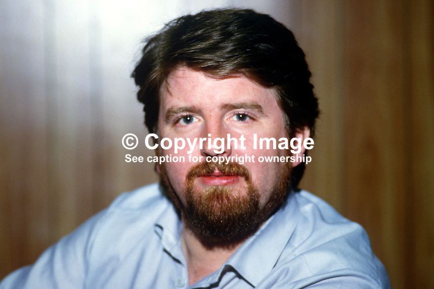 Martin Lynch, playwright, Belfast, N Ireland, 19840123ML1..Copyright Image from Victor Patterson, 54 Dorchester Park, Belfast, UK, BT9 6RJ..Tel: +44 28 9066 1296.Mob: +44 7802 353836.Voicemail +44 20 8816 7153.Skype: victorpattersonbelfast.Email: victorpatterson@me.com.Email: victorpatterson@ireland.com (back-up)..IMPORTANT: If you wish to use this image or any other of my images please go to www.victorpatterson.com and click on the Terms & Conditions. Then contact me by email or phone with the reference number(s) of the image(s) concerned.