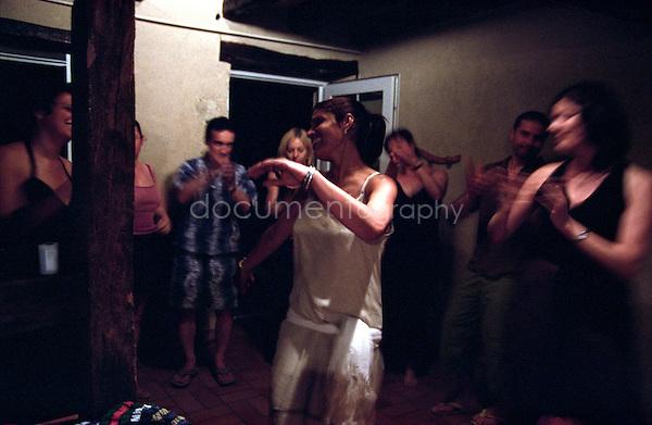 Women dancing belly dance.