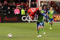 Toronto, ON, Canada - Saturday Dec. 10, 2016: Jozy Altidore, Osvaldo Alonso during the MLS Cup finals at BMO Field. The Seattle Sounders FC defeated Toronto FC on penalty kicks after playing a scoreless game.