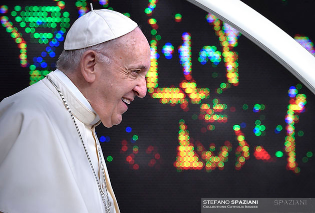 Pope Francis during of a weekly general audience at St Peter's square in Vatican.May 9, 2018