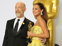 28 February 2016 - Hollywood, California - J. K. Simmons, Alicia Vikander. 88th Annual Academy Awards presented by the Academy of Motion Picture Arts and Sciences held at Hollywood & Highland Center. Photo Credit: Byron Purvis/AdMedia