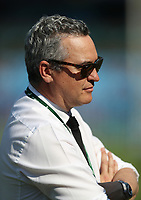 PRETORIA, SOUTH AFRICA - OCTOBER 06: Joe Locke (Media Manager) of the New Zealand All Blacks during the Rugby Championship match between South Africa Springboks and New Zealand All Blacks at Loftus Versfeld Stadium. on October 6, 2018 in Pretoria, South Africa.  Photo: Steve Haag / stevehaagsports.com