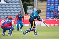 Isuru Udana (Sri Lanka) drives high over long off during Afghanistan vs Sri Lanka, ICC World Cup Cricket at Sophia Gardens Cardiff on 4th June 2019