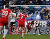 9th September 2017, Macron Stadium, Bolton, England; EFL Championship football, Bolton Wanderers versus Middlesbrough;  Britt Assombalonga of Middlesbrough scores his side's second goal after 71 minutes