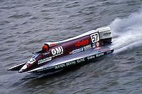 Ben Robertson (#57) USFORA Formula One (F1) Tunnel Boats, Cincinnati, Ohio 1990