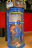 Children in wind tunnel interactive exhibit Mary Brogan Museum of Art and Science Tallahassee Florida