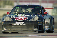 The #75 Porsche 996 GT3R of Michael Brockman, Paul Newman, Michael Lauer, and Gunnar Jeannette races to a 62nd place finish in the Rolex 24 at Daytona, Daytona International Speedway, Daytona Beach, FL, February 2000.  (Photo by Brian Cleary/www.bcpix.com)